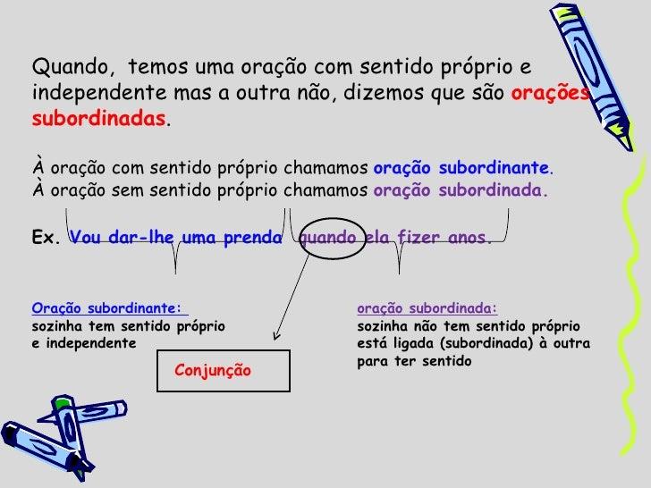 Oracoes subordinadas Slide 2