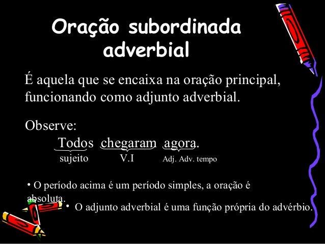 Orações Subordinadas Adverbiais Slide 2