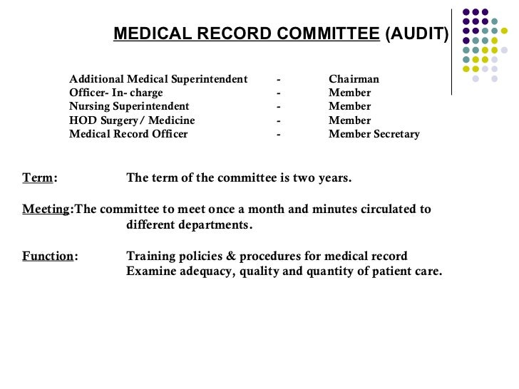 Organization Of Medical Record