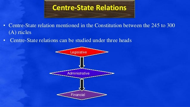 centre state relationship of jkm