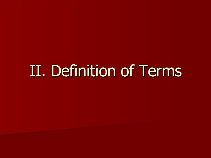 oral communication definition of terms