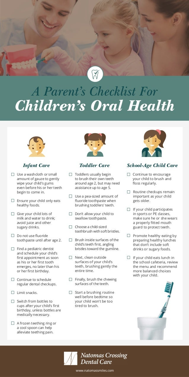 A Parent's Checklist For Children's Oral Health