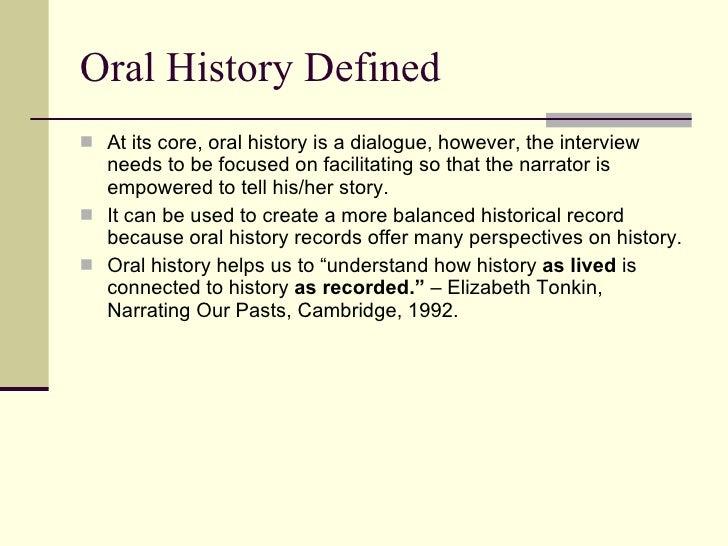 Oral History Training 99