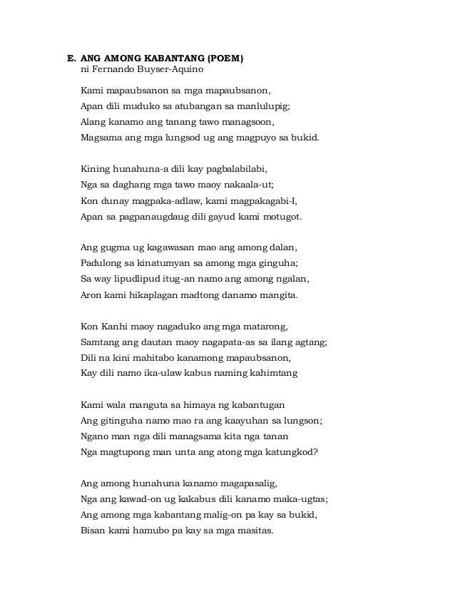 Literature 1 Central Visayas Oral Notes