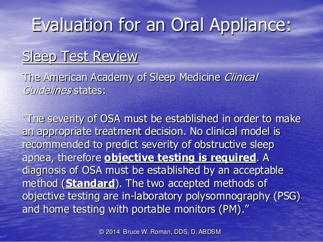 Oral Appliances For Snoring And Obstructive Sleep Apnea A Review