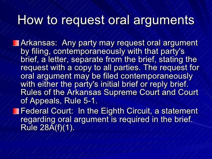 Request For Oral Argument 69