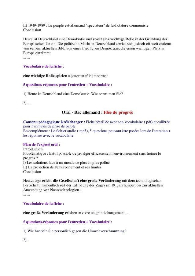 definition espace et echange allemand