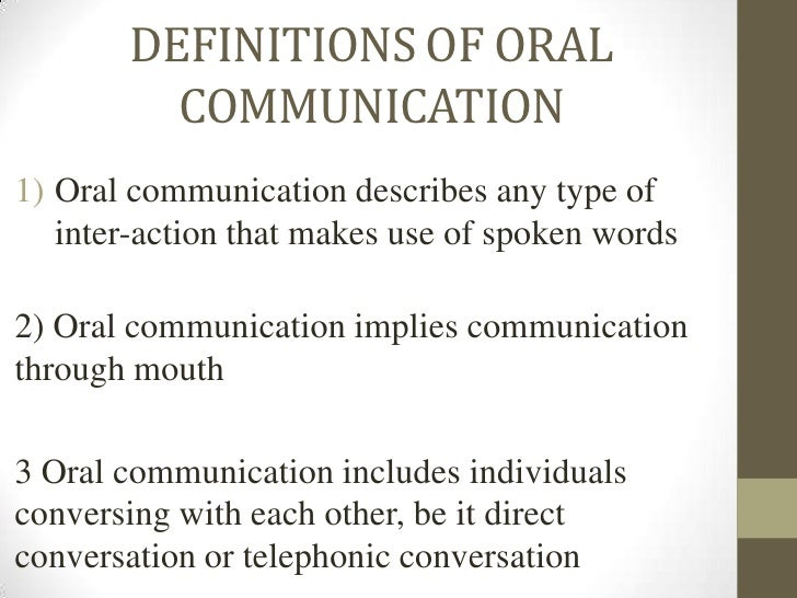 Communication Oral 74