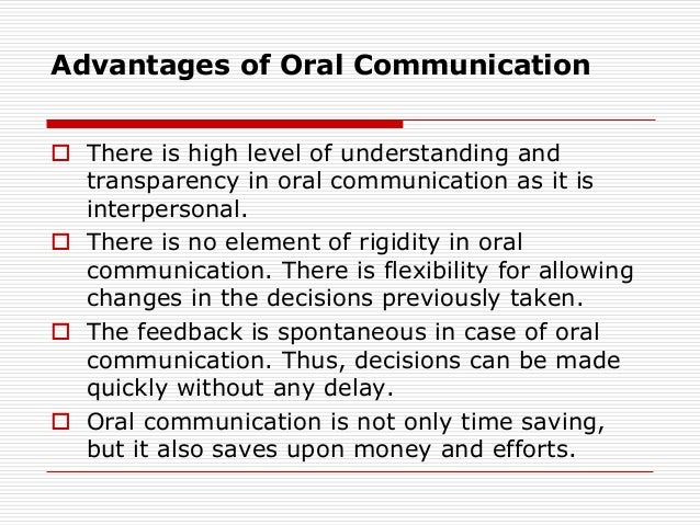 Benefits of oral presentations for students