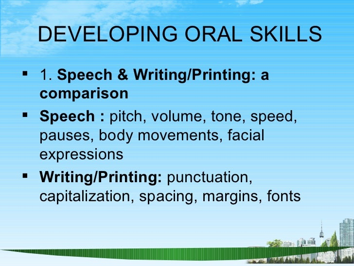 Oral Communication Skill Ppt  Bec Doms Mba