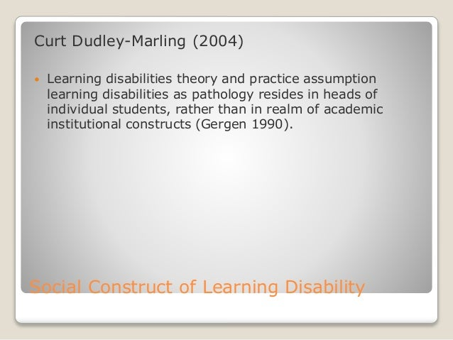 thesis about learning difficulties Intellectual disabilities and learning challenges aren't the same thing see what the difference is and why one gets confused for the other an expert explains.