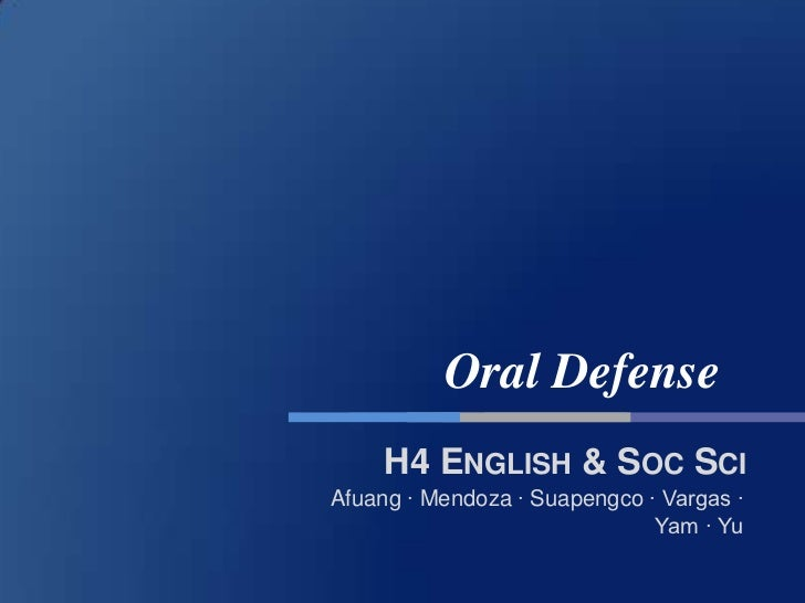 dissertation oral defense ppt