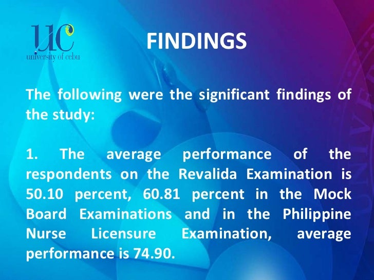 FINDINGS The following were the significant findings of the study:   1. The average performance of the respondents on the...