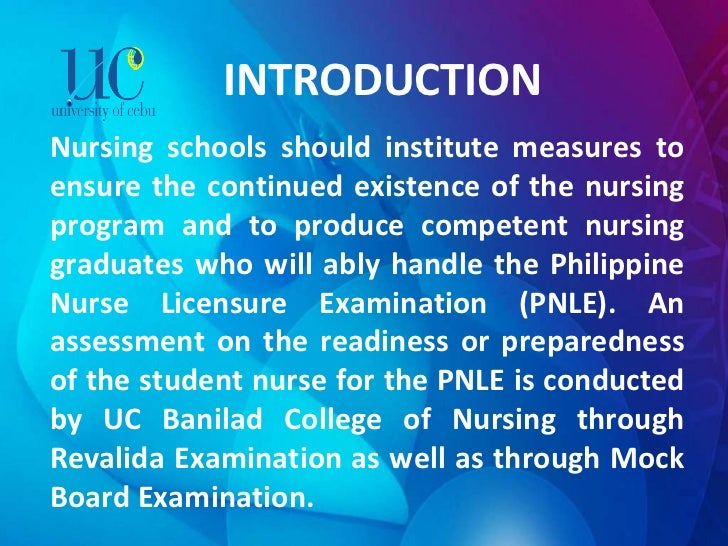 INTRODUCTION Nursing schools should institute measures to ensure the continued existence of the nursing program and to pro...