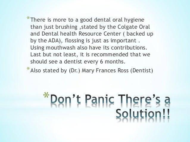oral dental hygiene persuasive speech