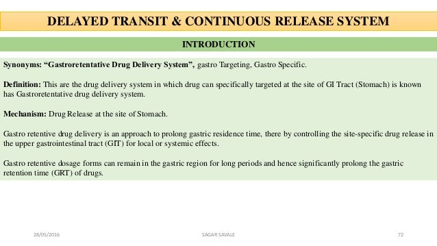 Oral drug delivery system (ODDS)