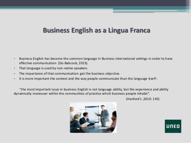 Lingua franca english business writing