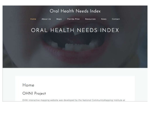 Health Map - Oral map