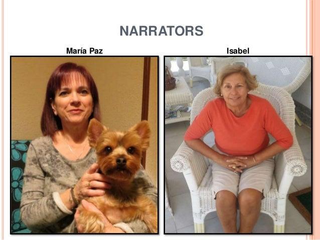 NARRATORS María Paz Isabel