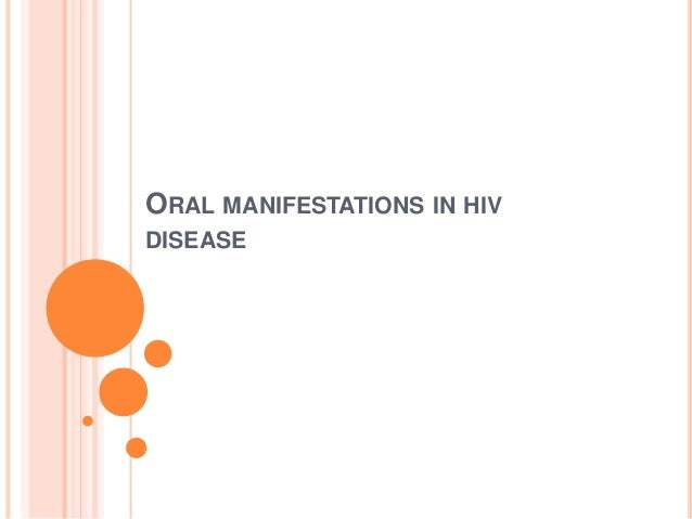 oral manifestations of hiv pdf