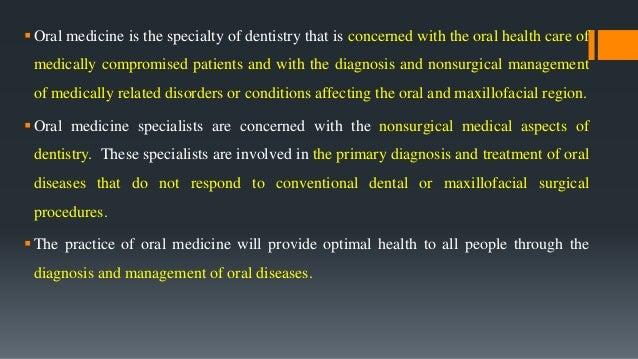 Oral medicine lecture 1