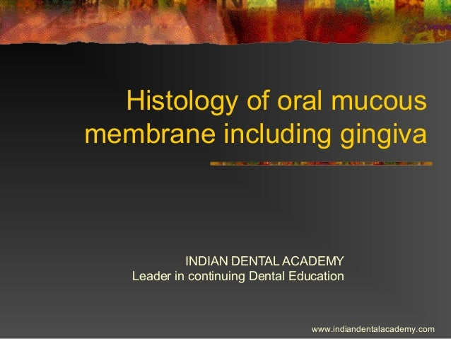 Histology of oral mucous membrane including gingiva INDIAN DENTAL ACADEMY Leader in continuing Dental Education www.indian...