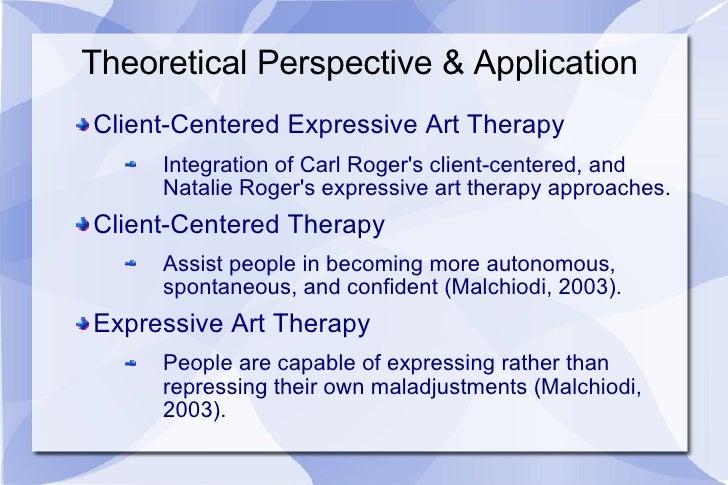 Theoretical Perspective & Application <ul><li>Client-Centered Expressive Art Therapy </li></ul><ul><ul><li>Integration of ...
