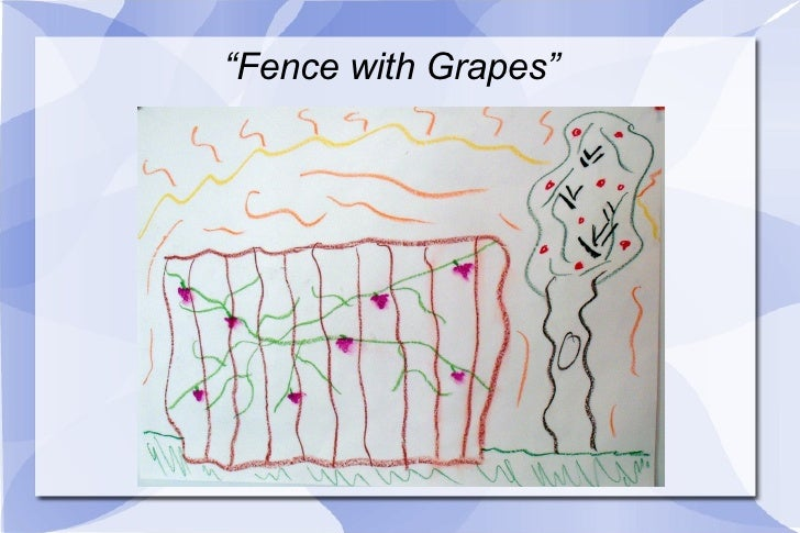 """"""" Fence with Grapes"""""""