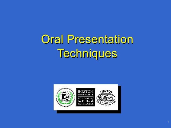 Oral Presentation Techniques