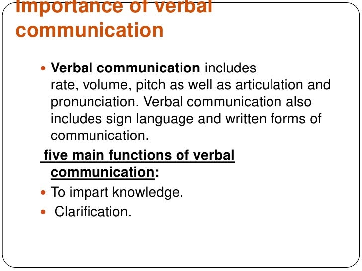 Communicative Functions or Purposes of Communication