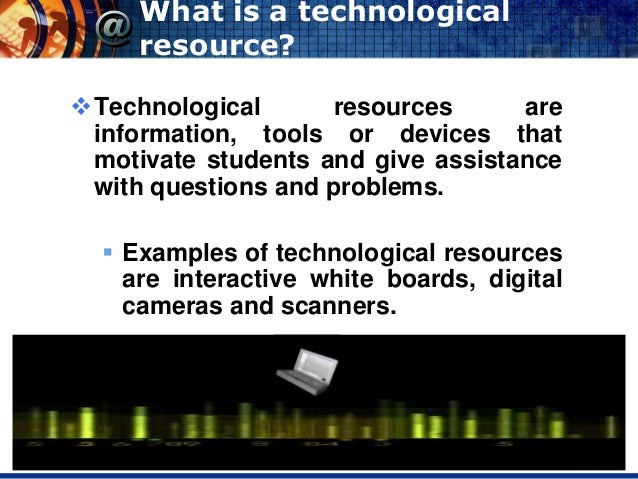 oral presentation  technological resources