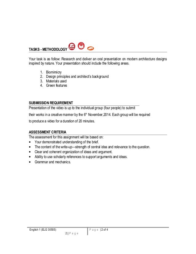oral presentation assignment
