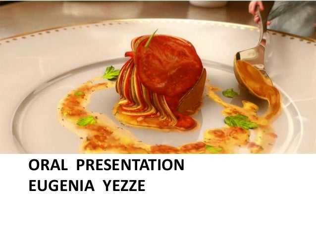ORAL PRESENTATION EUGENIA YEZZE