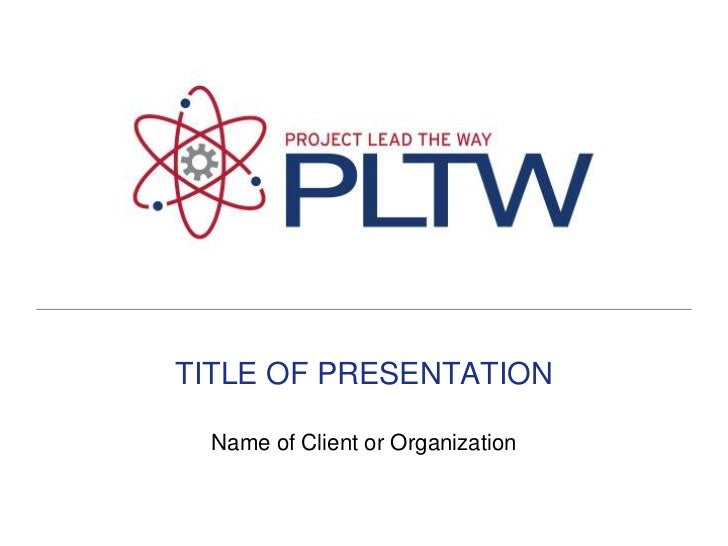 TITLE OF PRESENTATION<br />Name of Client or Organization<br />
