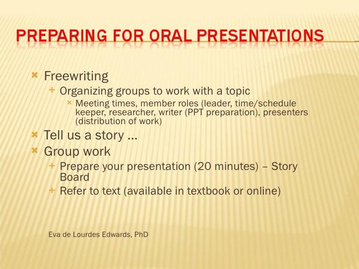 <ul><li>Freewriting </li></ul><ul><ul><li>Organizing groups to work with a topic </li></ul></ul><ul><ul><ul><li>Meeting ti...