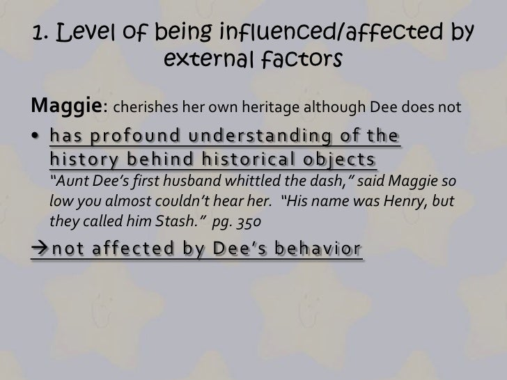dee and maggie differ in that maggie is