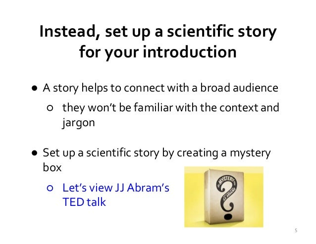 how to write an oral presentation introduction
