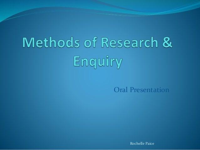 Oral Presentation Rochelle Paice