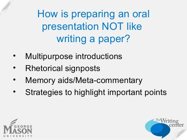 Oral Presentation and Powerpoint