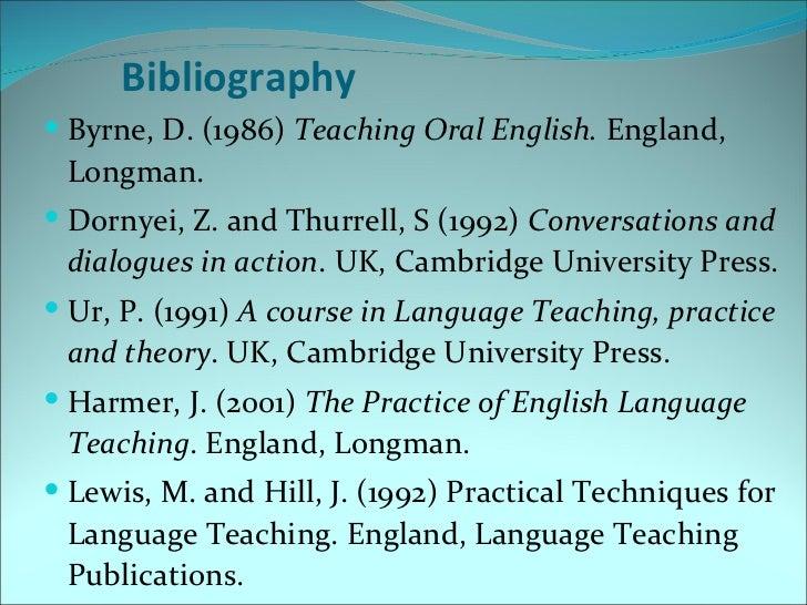 Donn byrne teaching oral english longman handbooks for english teacher