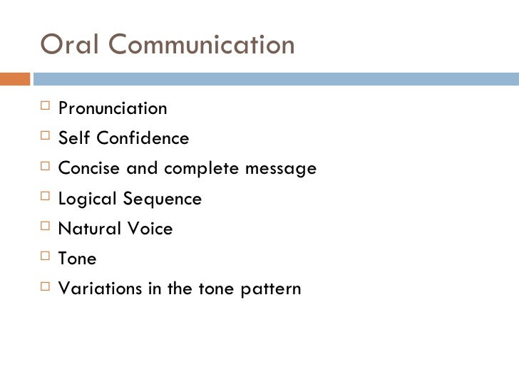 oral written communication oral communication