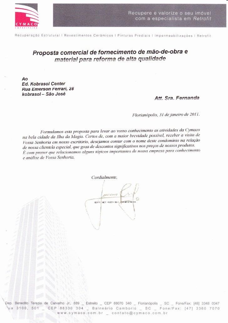 Recuperação Ëstrutural I Revestimentos Cerâmicos I Pinturas Predíais I lmpermeabiiÌzacÕes I Retrofit               Propo-s...