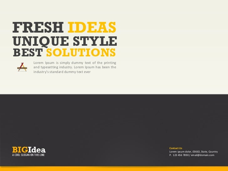 FRESH IDEASUNIQUE STYLEBEST SOLUTIONS  Lorem Ipsum is simply dummy text of the printing  and typesetting industry. Lorem I...