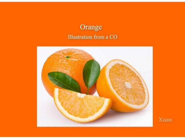Orange   Illustration from a CO