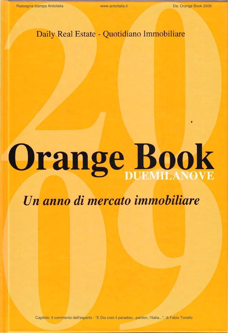 Rassegna stampa Antoitalia                         www.antoitalia.it                              Da: Orange Book 2009    ...