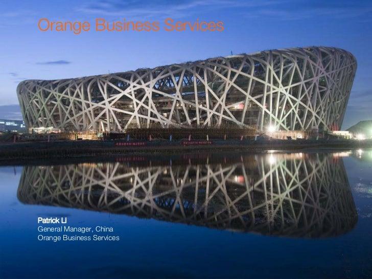 China & Orange Business Services
