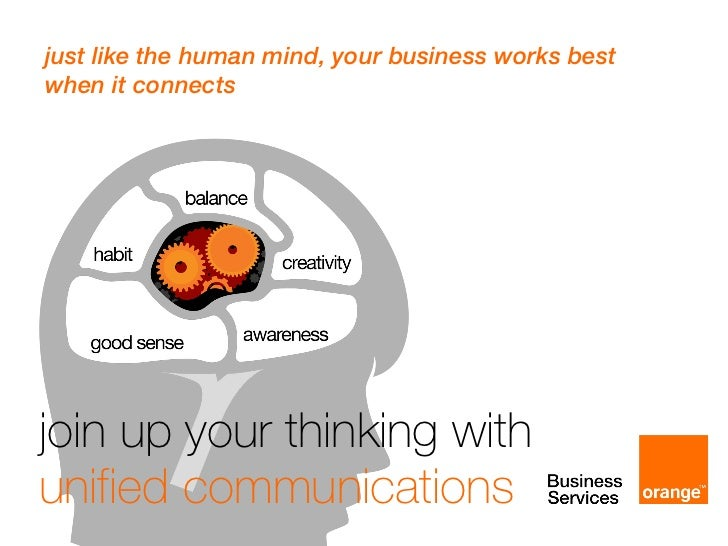 join up your thinking with  unified communications just like the human mind, your business works best  when it connects