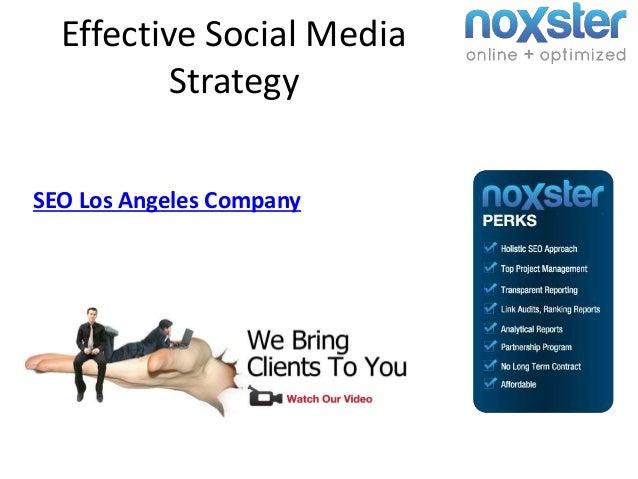 Effective Social Media Strategy SEO Los Angeles Company