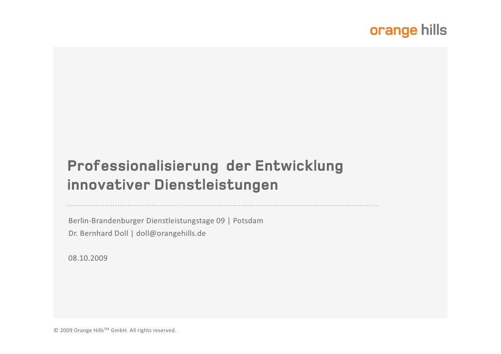 Professionalisierung der Entwicklung     innovativer Dienstleistungen         2+(-L 2--;22 (-35+(35;-35 V_ K .53,        2...
