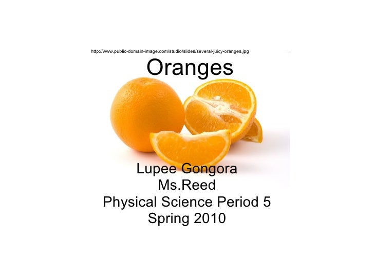 Oranges Lupee Gongora Ms.Reed Physical Science Period 5 Spring 2010 http://www.public-domain-image.com/studio/slides/sever...